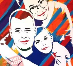 Флип Флоп семейный портрет